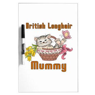 Pizarra Blanca Mamá de pelo largo británica del gato