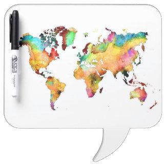 Pizarra Blanca mapa del mundo