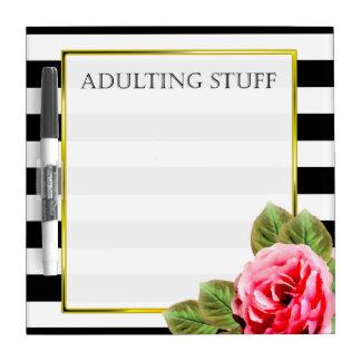 Pizarra Blanca Materia divertida de Adulting para las mujeres