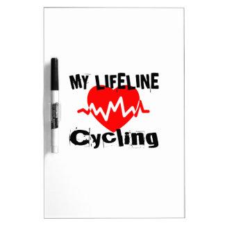 Pizarra Blanca Mi línea de vida diseños de ciclo de los deportes
