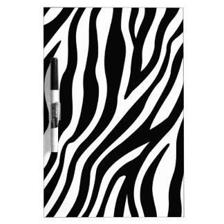 Pizarra Blanca Modelo blanco y negro de las rayas del estampado