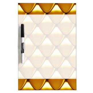 Pizarra Blanca Modelo elegante de la escala del oro