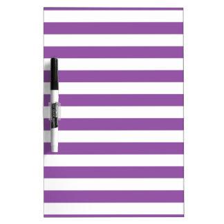 Pizarra Blanca Modelo púrpura y blanco de la raya