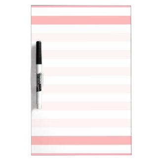 Pizarra Blanca Modelo rosado y blanco de la raya