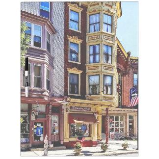 Pizarra Blanca PA de Jim Thorpe - tiendas a lo largo de Broadway