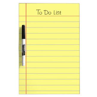 Pizarra Blanca Para hacer la lista