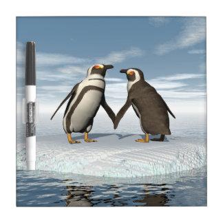 Pizarra Blanca Pares de los pingüinos
