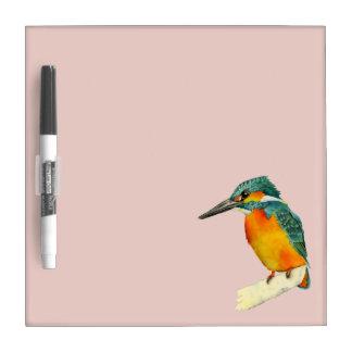 Pizarra Blanca Pintura de la acuarela del pájaro del martín