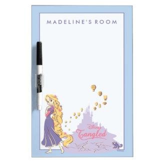 Pizarra Blanca Rapunzel y Pascal en púrpura