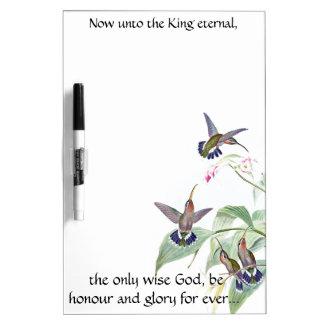 Pizarra Blanca Solamente los pájaros sabios del colibrí de dios