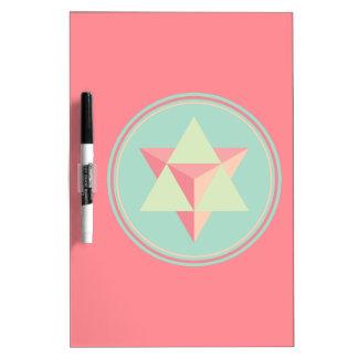 Pizarra Blanca Tetraedro de la estrella de Merkaba