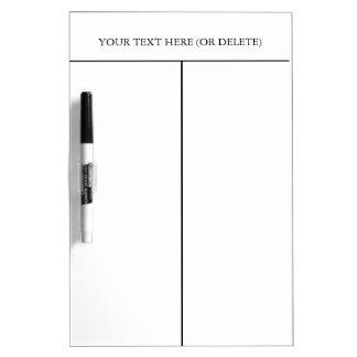 Pizarra Blanca Texto dividido del Tablero-Personalizar del