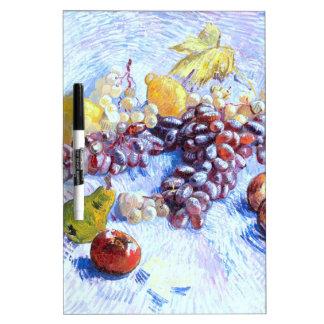 Pizarra Blanca Todavía vida con las manzanas, peras, uvas - Van