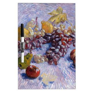 Pizarra Blanca Todavía vida: Manzanas, peras, uvas - Van Gogh