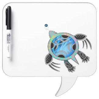 Pizarra Blanca Tortuga de mar pintada