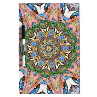 Pizarra Blanca Vitral artístico en colores pastel fresco bonito