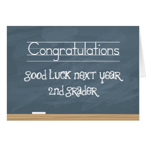 Pizarra de la buena suerte el próximo año con las  felicitación