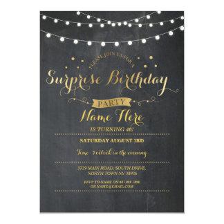 Pizarra de la fiesta de cumpleaños de la sorpresa invitación 12,7 x 17,8 cm