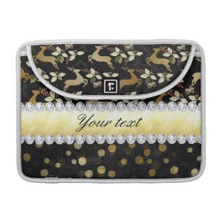 Pizarra de los diamantes del confeti de los funda para MacBook