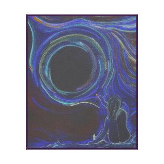 Pizarra de medianoche de la creatividad impresión en lienzo