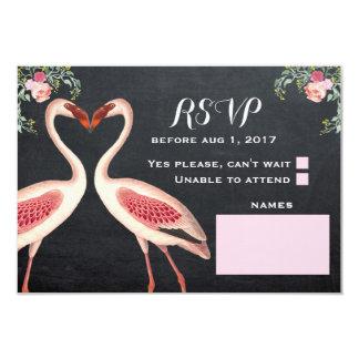 Pizarra de RSVP del flamenco Invitación 8,9 X 12,7 Cm