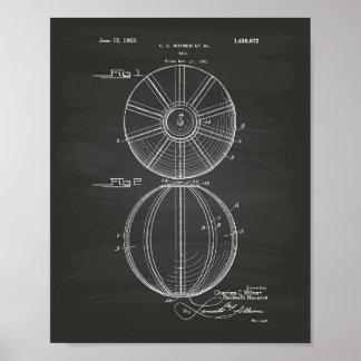 Pizarra del arte de la patente de la bola 1923 del