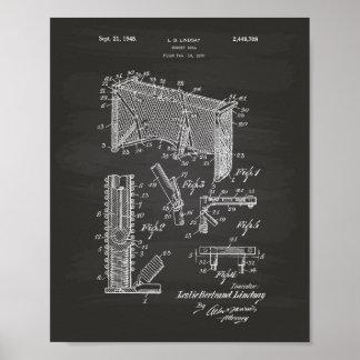 Pizarra del arte de la patente de la meta 1948 del