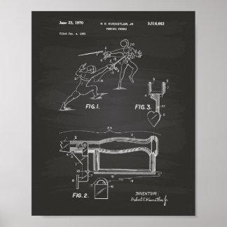 Pizarra del arte de la patente de las espadas de