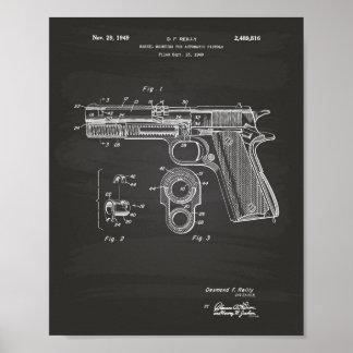 Pizarra del arte de la patente de las pistolas