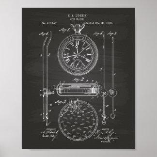 Pizarra del arte de la patente del cronómetro 1889