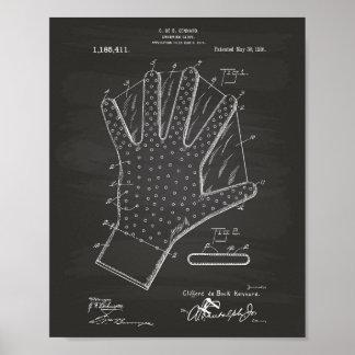 Pizarra del arte de la patente del guante 1916 de