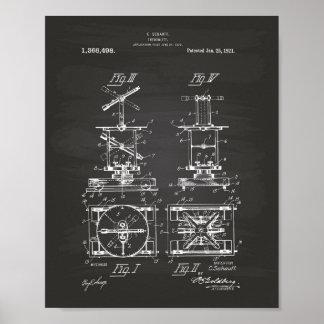 Pizarra del arte de la patente del teodolito 1921