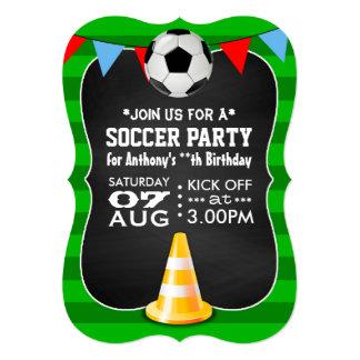 Pizarra del fiesta del fútbol/del fútbol invitación 12,7 x 17,8 cm