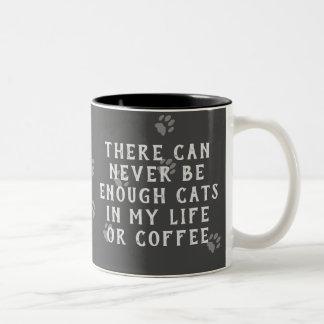 Pizarra divertida nunca bastantes gatos o taza de