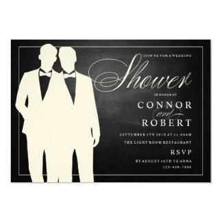 Pizarra gay de la invitación de la ducha del boda