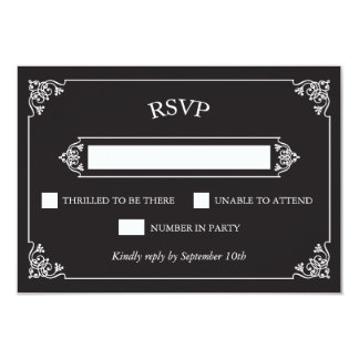 Pizarra RSVP del vintage Invitación 8,9 X 12,7 Cm