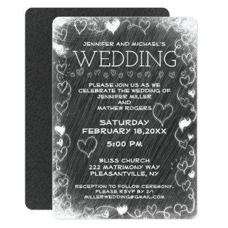 Pizarra rústica del vintage del boda invitación 12,7 x 17,8 cm