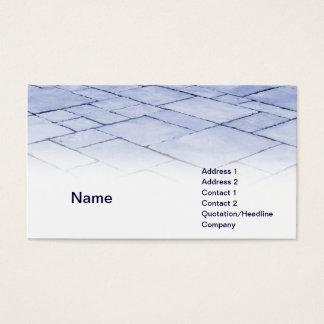 pizarras azules tarjeta de negocios