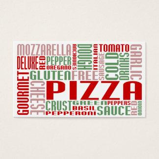 pizza (charla del chit) tarjeta de negocios