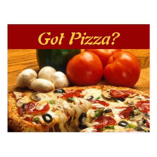 ¿Pizza conseguida? postal