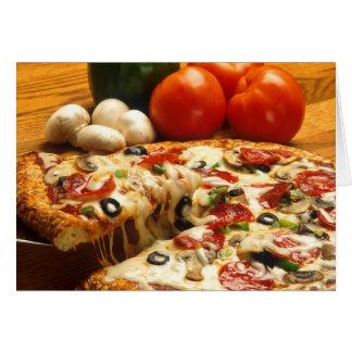 ¿Pizza conseguida? tarjeta de felicitación