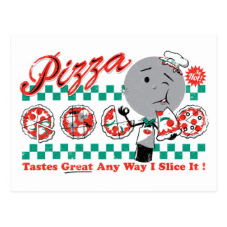 Pizza cualquier rebanada de la manera I él Postal