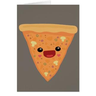 Pizza Cutie Tarjeta De Felicitación
