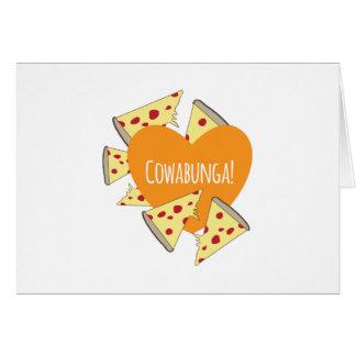 Pizza de Cowabunga Tarjeton