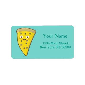 Pizza de Kawaii Etiquetas De Dirección