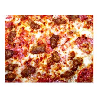 Pizza de la carne postal