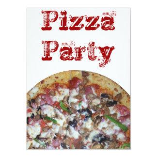 Pizza de la combinación invitación 13,9 x 19,0 cm