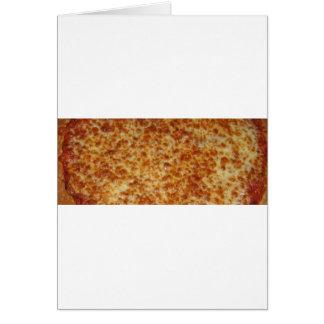 Pizza de queso tarjeta de felicitación