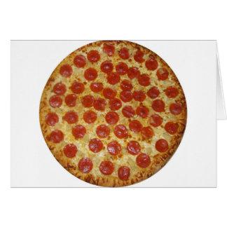 Pizza de salchichones deliciosa de la pizza… tarjeton