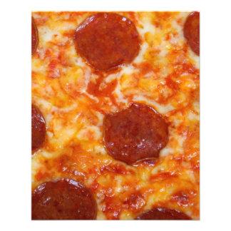 Pizza de salchichones folleto 11,4 x 14,2 cm